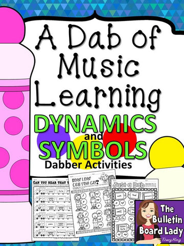 Dabber Activities for Music Class – Dynamics and Symbols
