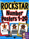 Number Posters Rock Star Theme