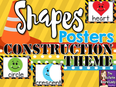 Shape Posters Construction Theme