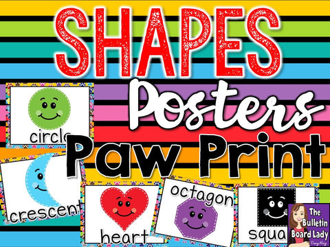 Shape Posters Paw Prints Theme