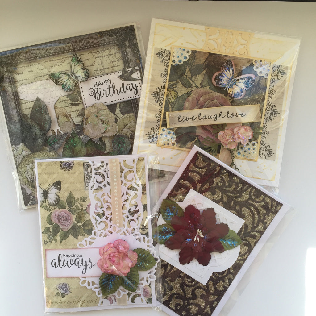April Card Class, Rambling Roses