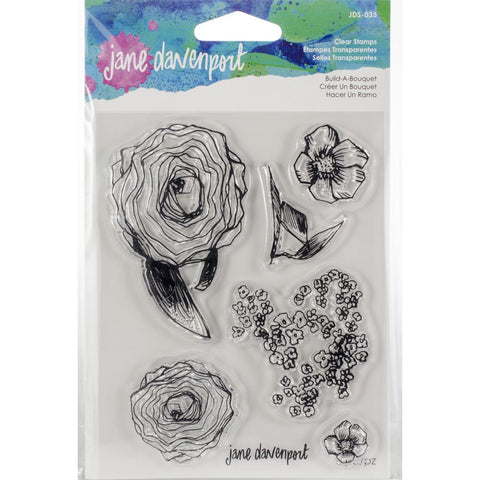Build A Bouquet - Jane Davenport Mixed Media Acrylic Stamps