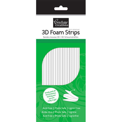 3D White Foam Strips