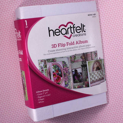 3D Flip Fold Album - White Colour