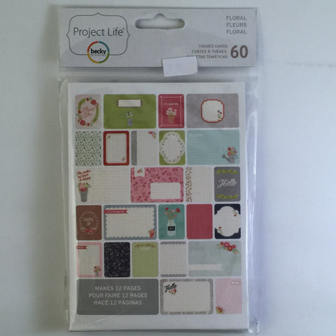 Project Life Floral Themed Cards