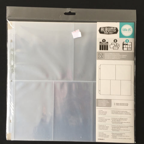 "12"" x 12"" 3 Portrait and 2 Square Photo Sleeves"