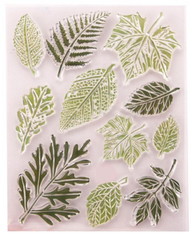 Leaf Stamps - set of 11 clear stamps