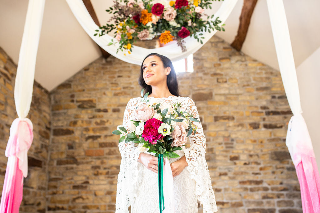 faux flowers yorkshire wedding blossom barn