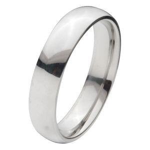 Silver Titanium Classic 5mm Band Rings