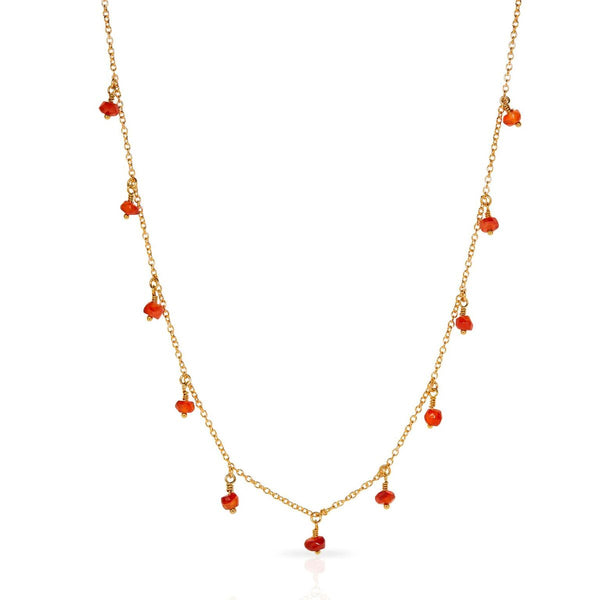 Petite Grand Gold/Carnelian Radiance Necklace