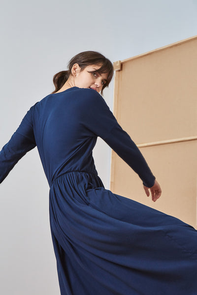 Kowtow Building Block Dancer Dress - Navy