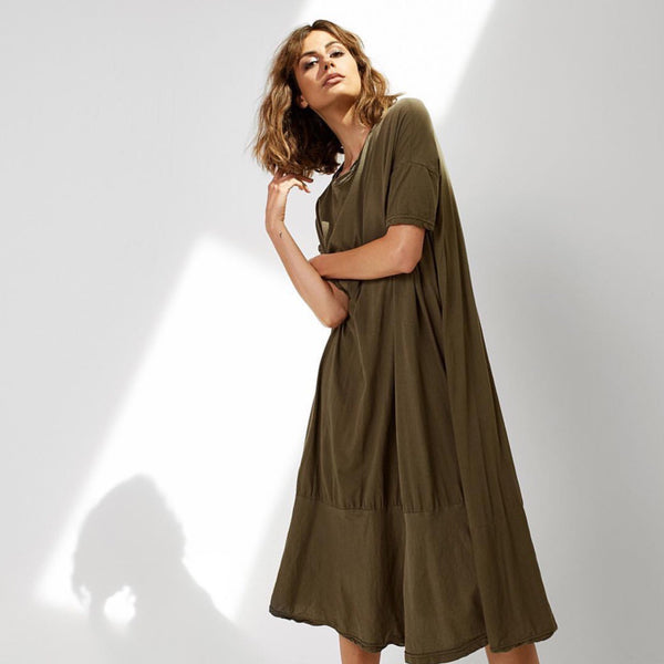 Pop Midi Dress - Thyme