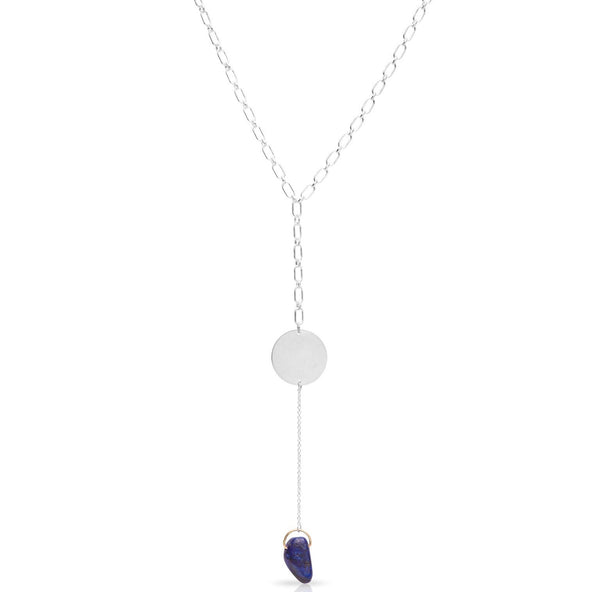 Petite Grand Silver Luna Necklace