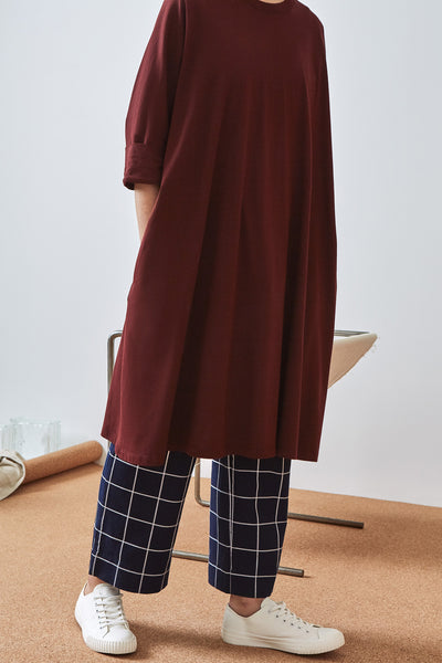 Kowtow Building Block Oversized Boxy Dress - Wine