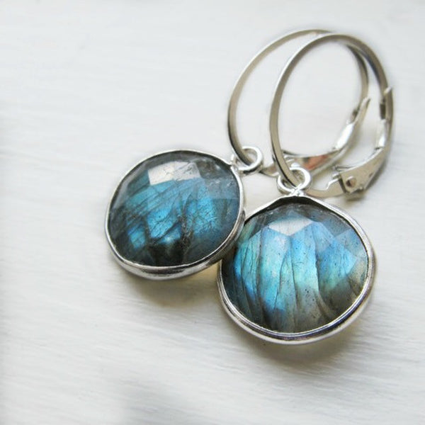 Labradorite Gem Drop Earrings