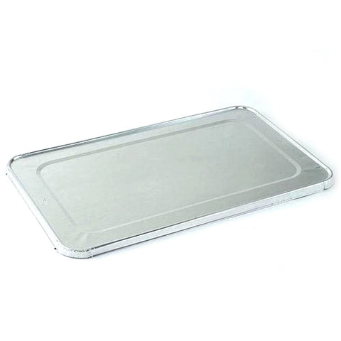 Large Aluminum Rectangular Foil Lid for Rack Roaster 17X12.5X3.19 10PK
