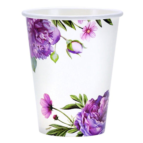 Nicole Home Collection Paper Cup Peony 12oz  24Ct