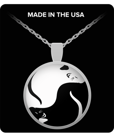 Rats Yin Yang Necklace