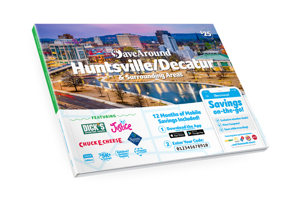 Huntsville/Decatur & Surrounding Areas, AL 2020 SaveAround<sup>®</sup> Coupon Book