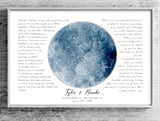 Blue Watercolor Custom Star Map Print