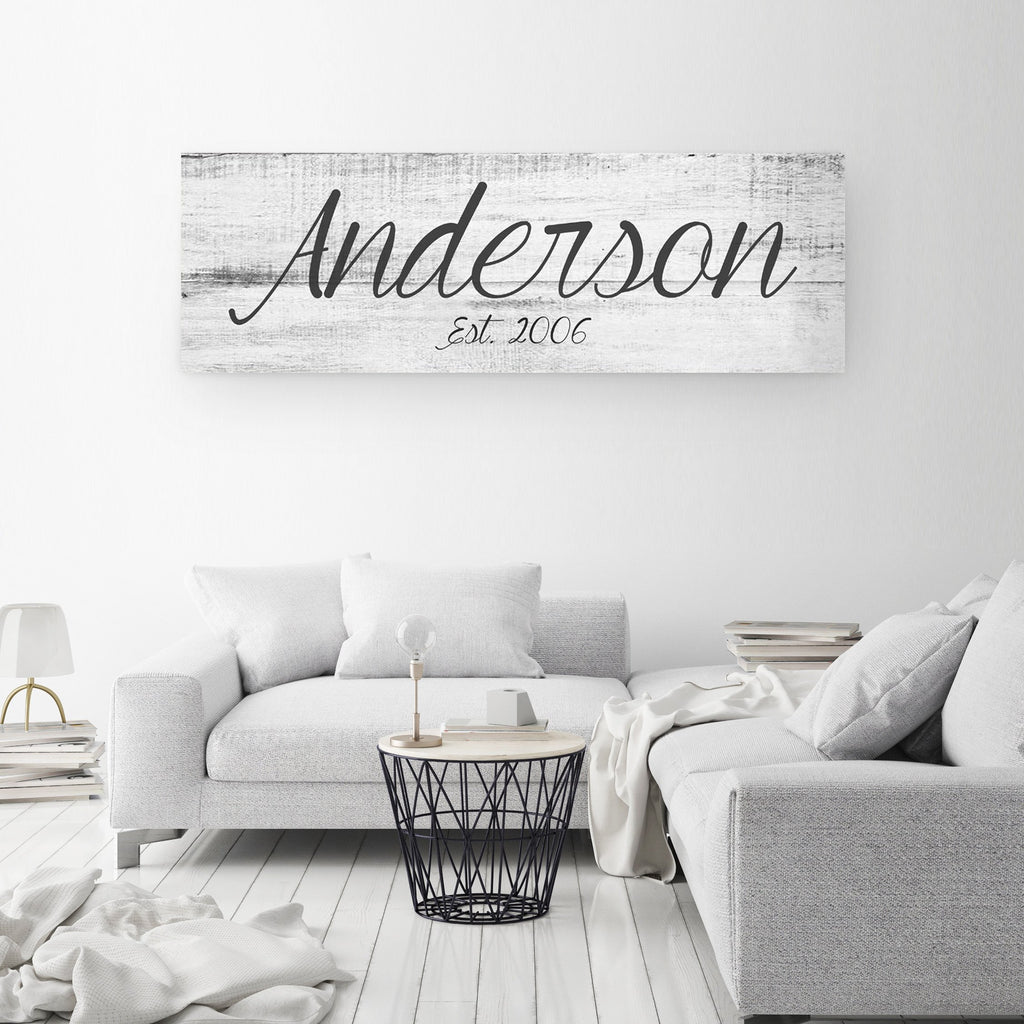Big Family Name Sign - A Personalized Family Canvas - Canvas Vows