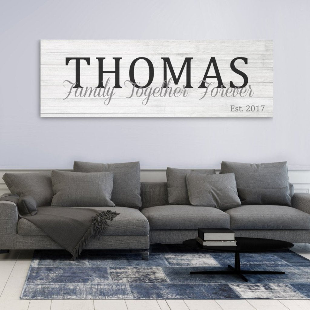 Established Sign Canvas - Canvas Vows