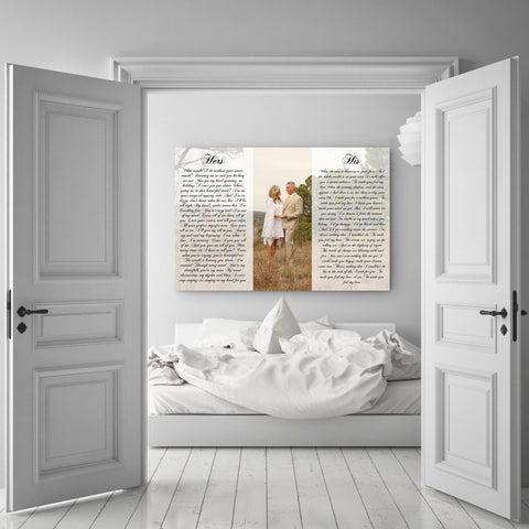 1st Anniversary Gift - A Personalized Word Art Canvas