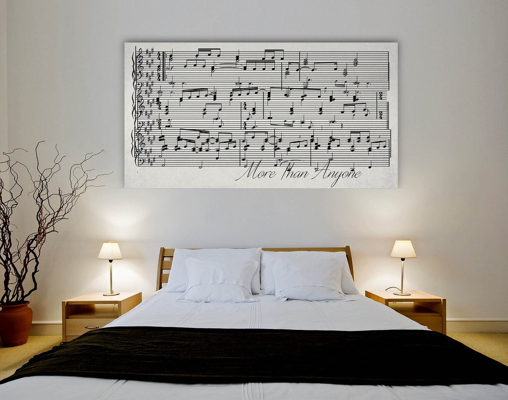 Sheet Music On Canvas - A Custom Made Canvas With Your Song - Canvas Vows