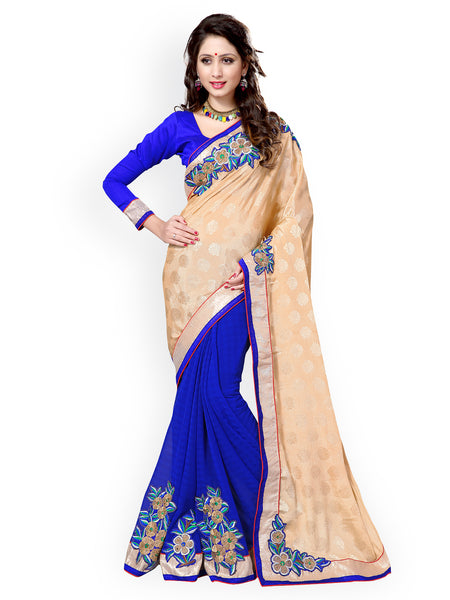 fs-6-traditional-party-wear-sarees-floral-border-and-floral-patch-work-festival-sarees
