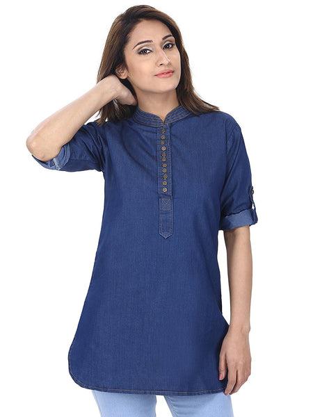 Short Kurta Denim Style Short Kurtis For Girl K58