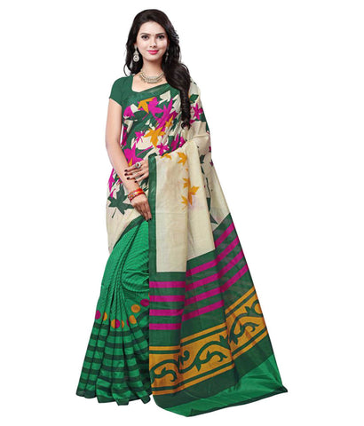 Art Silk Sarees Multicoloured Bhagalpuri Silk Saree