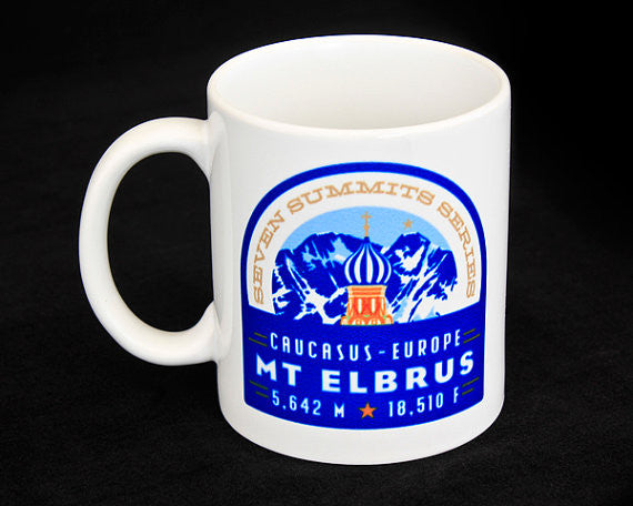 Mt. Elbrus Seven Summits Coffee Mug
