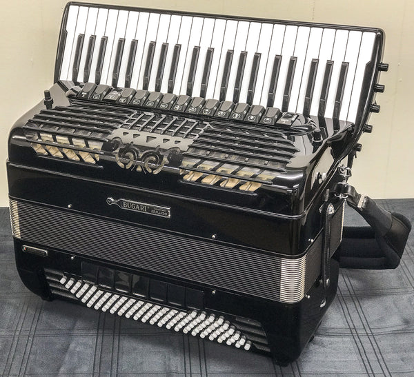 Bugari Bayan Selecta Freebass Convertor Piano Accordion - TheReedLounge.com