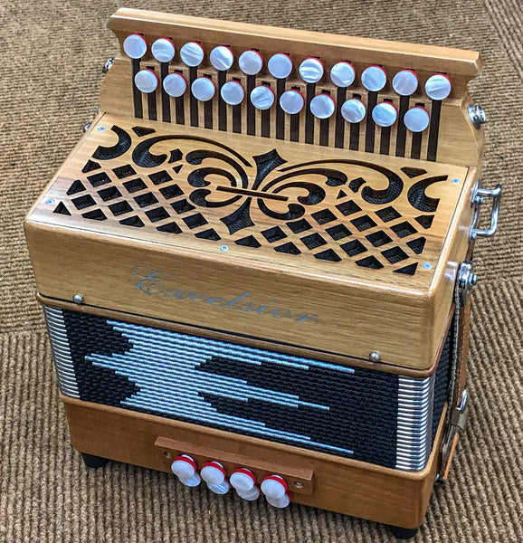 Excelsior Mini D/G One voice Melodeon, Second Hand - TheReedLounge.com