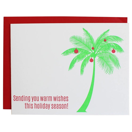 Sending Warm Wishes Palm Tree Greeting Card