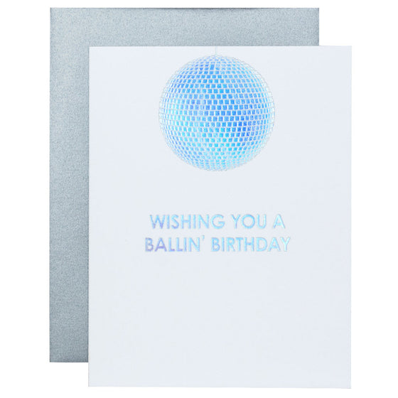 Disco Ballin' Birthday Letterpress Card