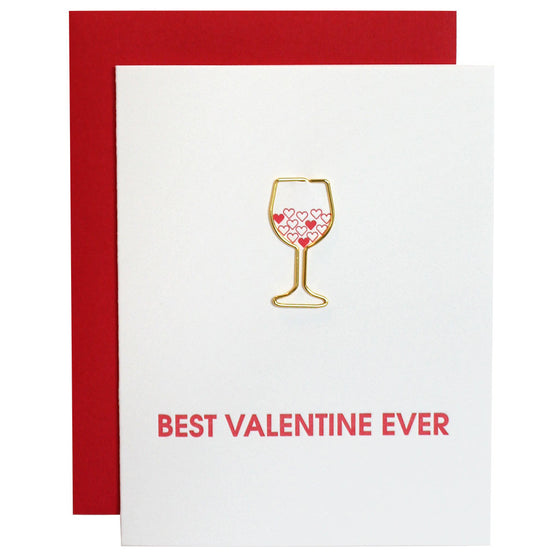 Best Valentine Ever Paper Clip Letterpress Card