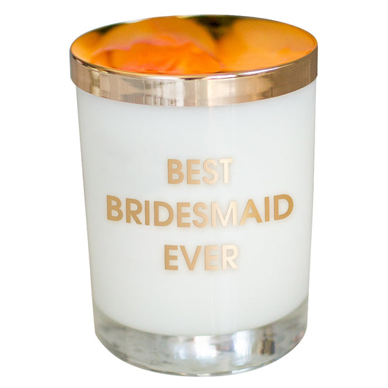 Best Bridesmaid Ever Candle - Gold Foil Rocks Glass
