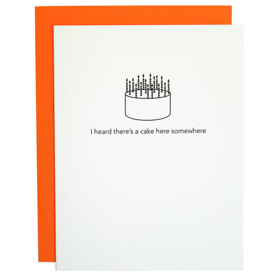 Cake Here Somewhere Birthday Letterpress Card