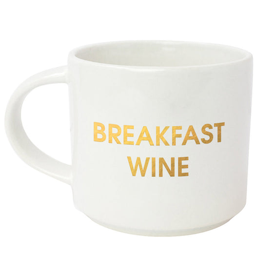 Breakfast Wine Gold Metallic Mug