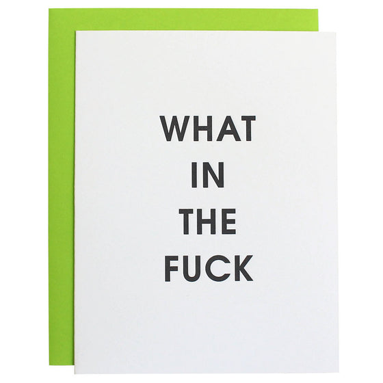 What in the Fuck Letterpress Greeting Card