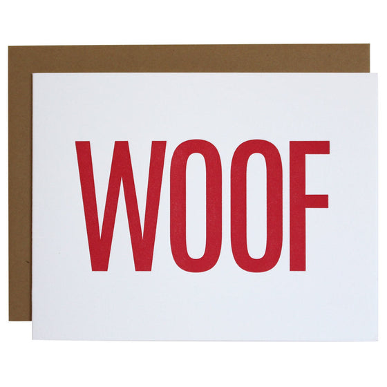 Woof Letterpress Card