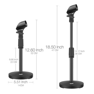 Moukey MMs-2 Adjustable Desktop Microphone Stand Table Microphone Stand