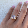 Trapezoid Morganite Ring