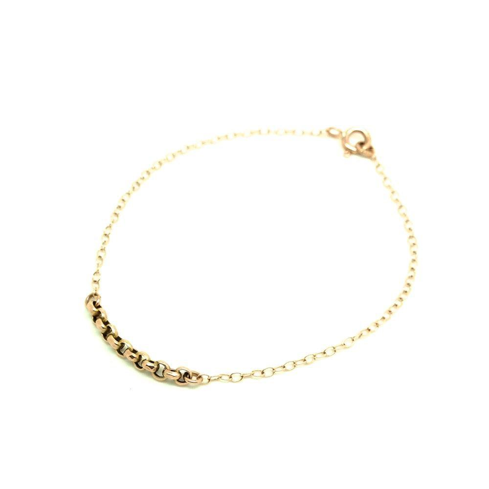 Antique Victorian 9ct Rose Gold Chain Bracelet