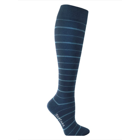Compression Socks Blue Striped 7400-3 - Clothes Rack