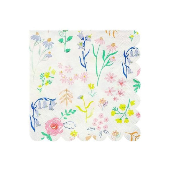 Napkins - Wildflower Small pack of 20 - MeMe Antenna