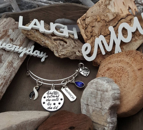 BW-4 Ehlers Danlos Bracelet CVID Awareness She Believed Bracelet She Could So She Did Jewelry