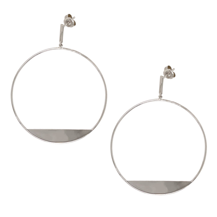 Modern, Front Facing Hoops With Slice