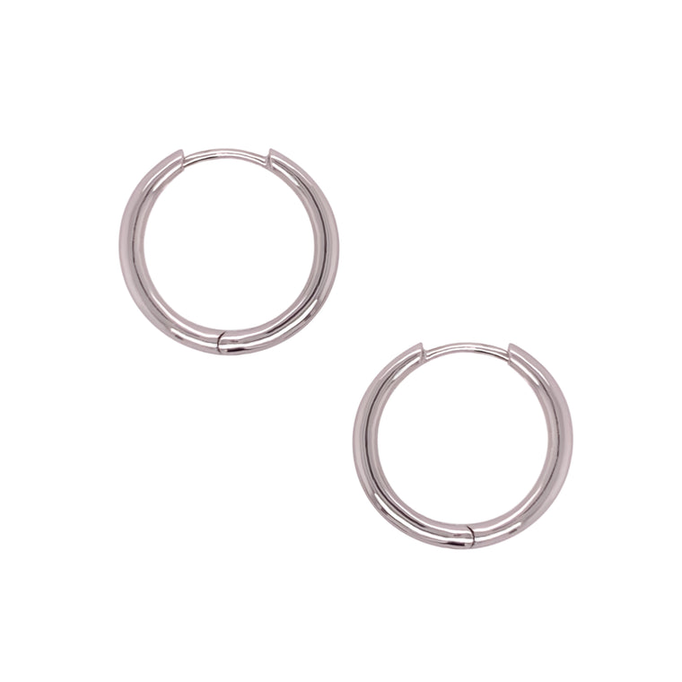 Modern, Thick Hoop Earrings | 20mm
